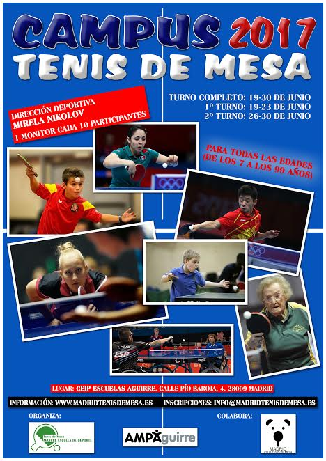 CARTEL CLUB TENIS MESA