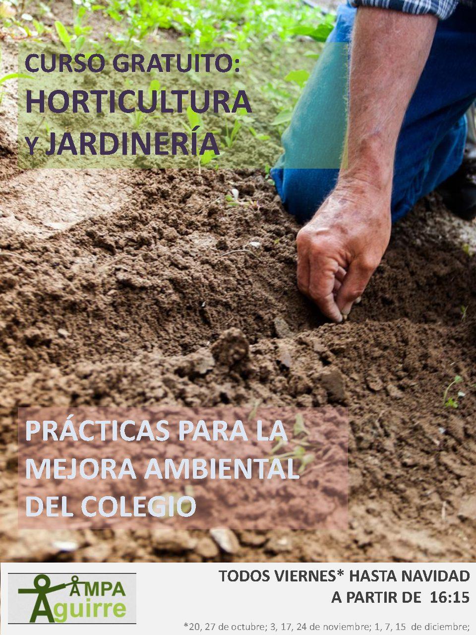 Curso horticultura y jardinería para madres y padres
