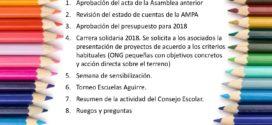 Asamblea Ordinaria de la AMPA el próximo 28 de febrero